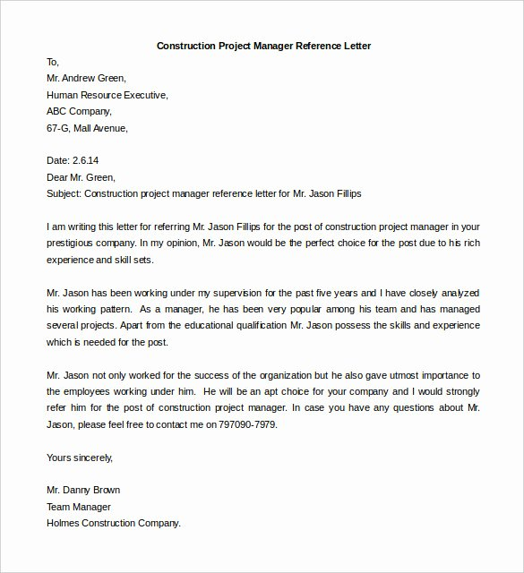 Project Recommendation Template Luxury Free Reference Letter Templates 24 Free Word Pdf