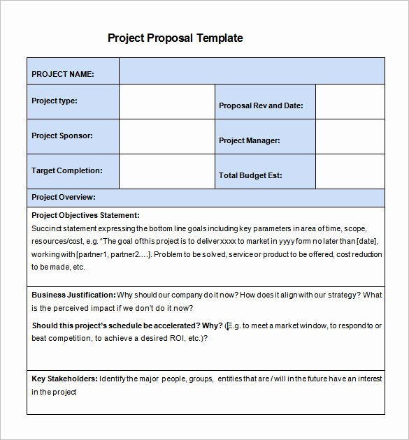 Project Recommendation Template New 27 Project Proposal Templates Pdf Doc