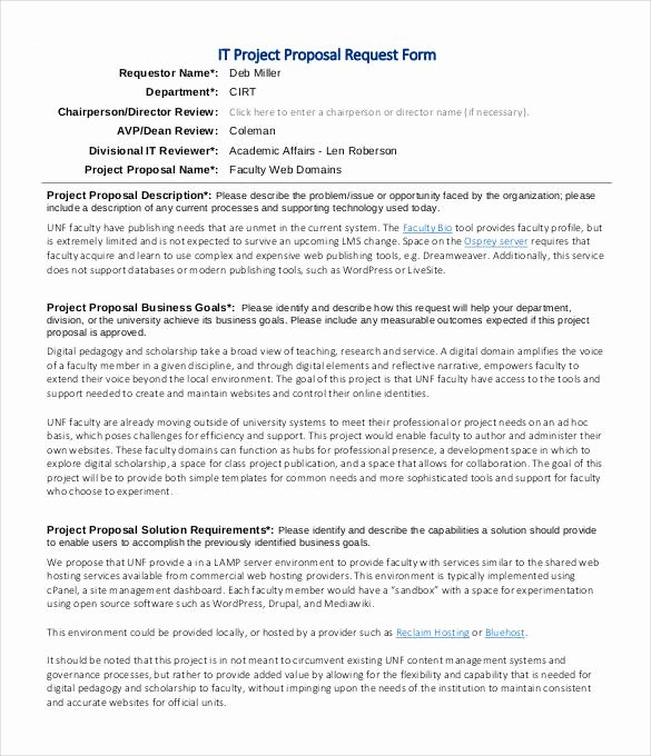 Project Request form Template Elegant 47 Project Proposal Templates Doc Pdf
