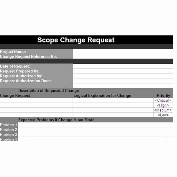 Project Request form Template New A Scope Change Template for Projects