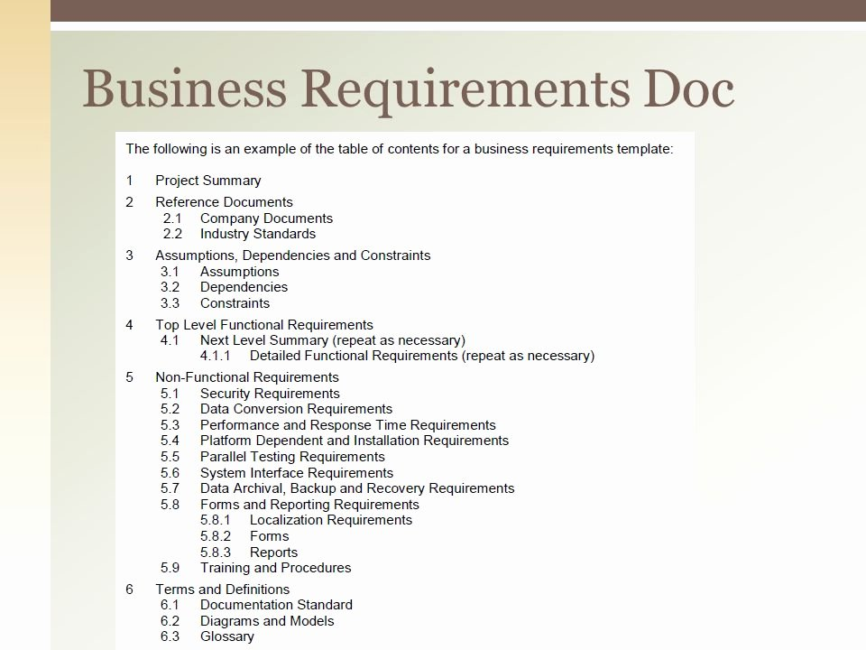 Project Requirements Document Example Best Of Business Analysis Inc Ppt