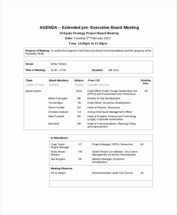 Project Status Meeting Agenda New 9 Project Meeting Agenda Template Word Pdf