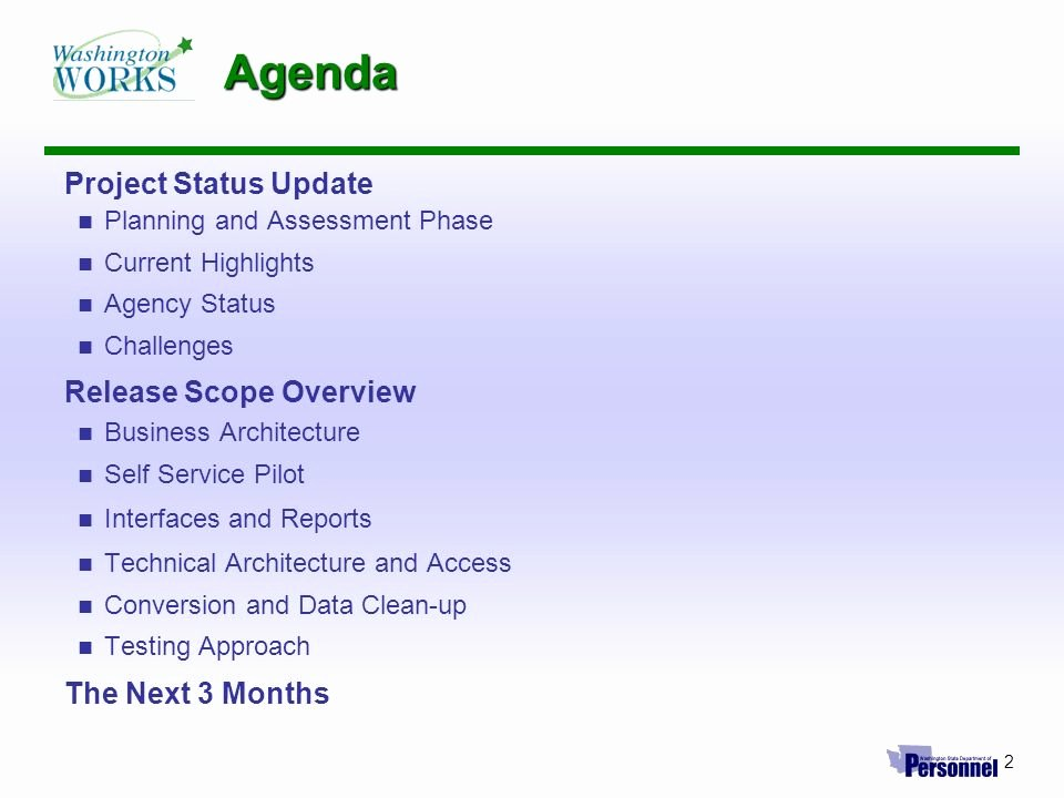 Project Status Meeting Agenda New Hrms Project Update May 26 2004 Hrms Implementation