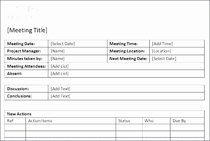 Project Status Meeting Template Awesome Status Meeting Agenda Template