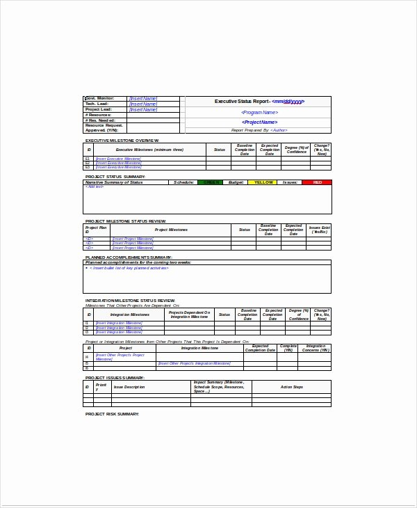 Project Status Meeting Template Beautiful 8 Project Status Templates Free Sample Example