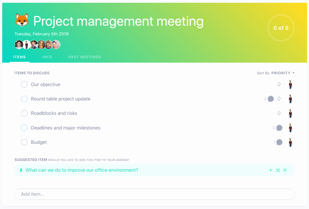 Project Status Meeting Template Fresh 5 Things to Add to Your Project Management Meeting Agenda
