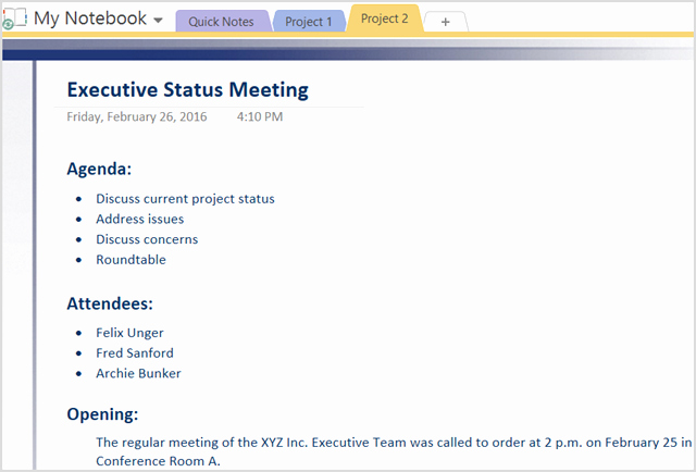 Project Status Meeting Template Luxury How to Adopt Enote Templates for Project Management