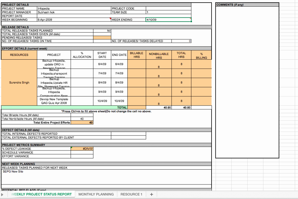 Project Status Report Template Excel Elegant Weekly Project Status Report Template Excel