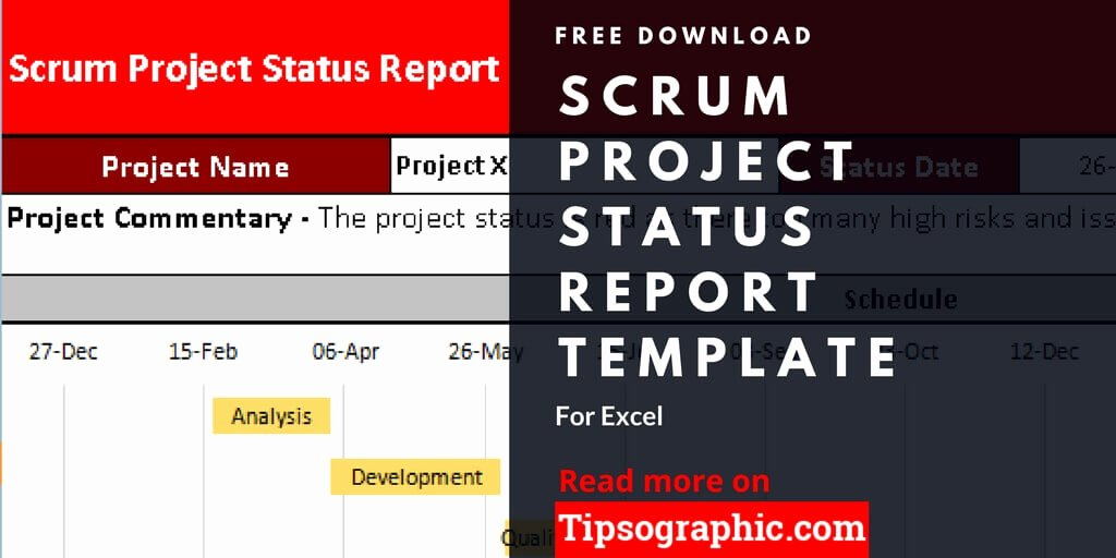 Project Status Report Template Excel Lovely Scrum Project Status Report Template for Excel Free