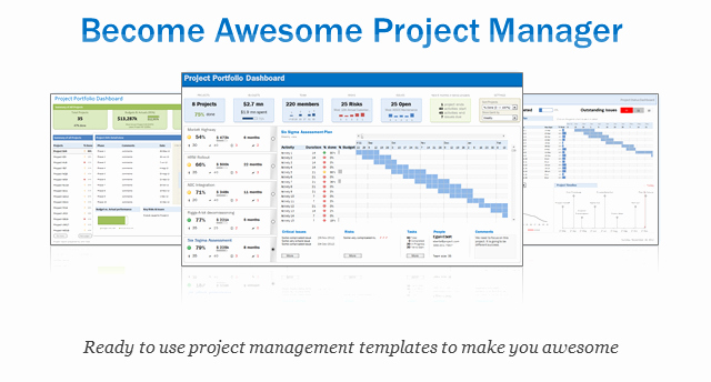 Project Status Template Excel Beautiful Excel Project & Portfolio Management Templates Download