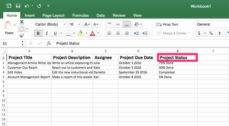 Project Status Template Excel New Project Tracking Template In Excel Priority Matrix