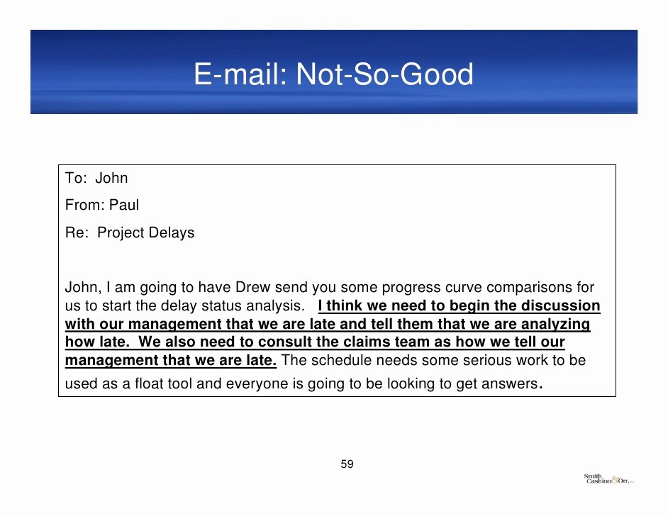 Project Status Update Email Sample Elegant Best Practices Project Documentation and Construction