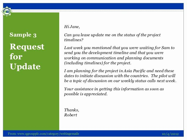 Project Status Update Email Sample Lovely Letter Requesting Status Of Job Application How to
