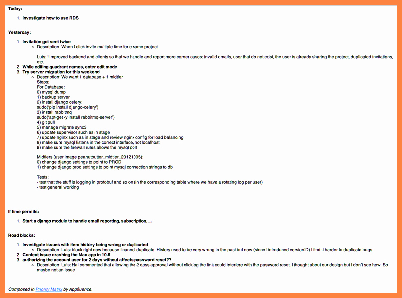 Project Status Update Email Sample Luxury 6 Weekly Report Template