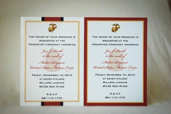Promotion Announcement Examples Elegant Marine Enlisted Promotion Invitation Announcement