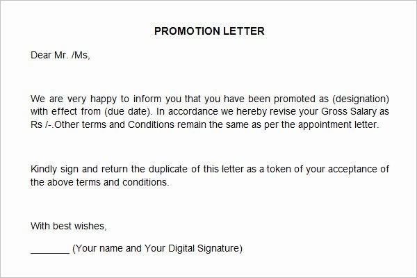 Promotion Announcement Letters Luxury 27 Sample Appraisal Letters Pdf Doc