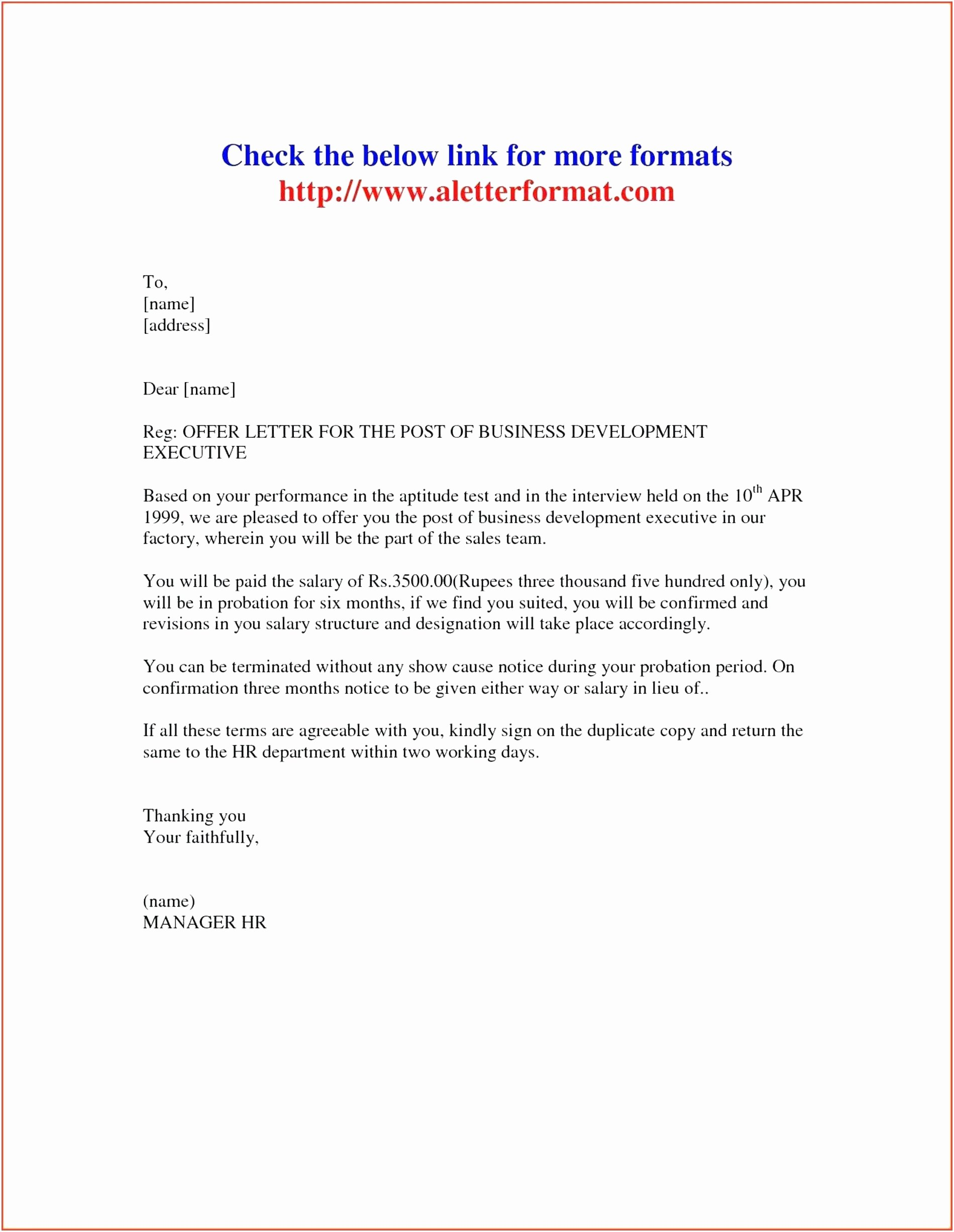 Promotion Announcement Letters Unique Valid Promotion Letter format Doc