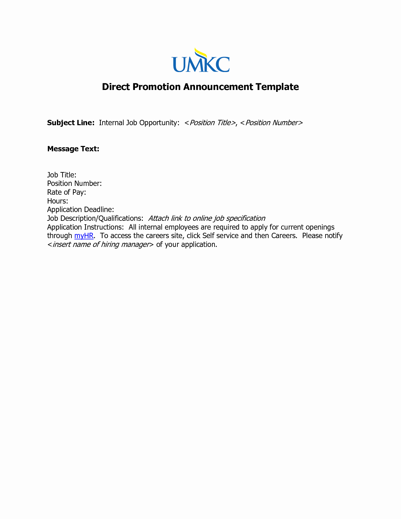 Promotion Announcement Samples Elegant Best S Of Job Promotion Announcement Examples