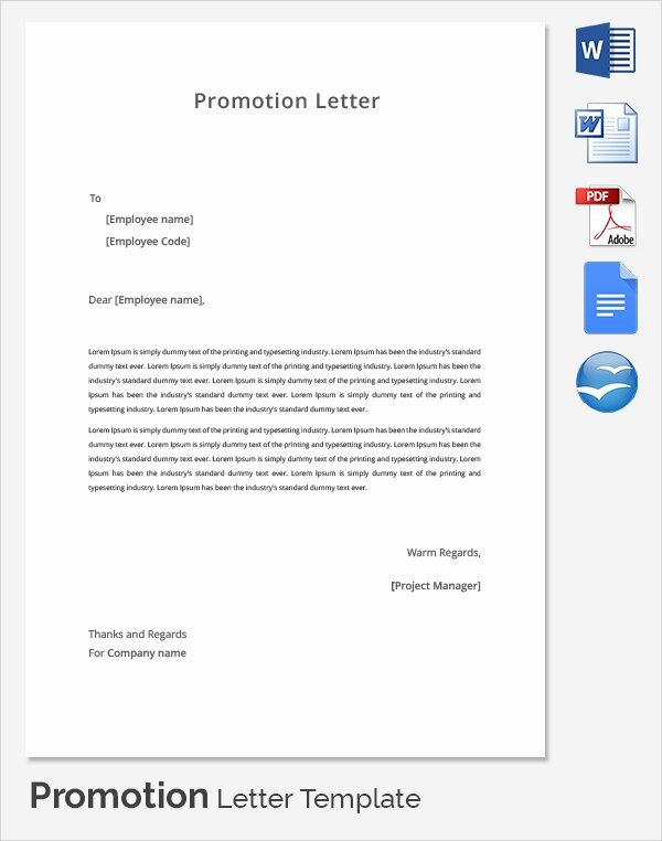 Promotion Announcement Template Luxury 17 Promotion Letters