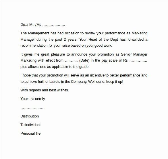 Promotion Announcement Templates Best Of 17 Promotion Letters Doc Pdf
