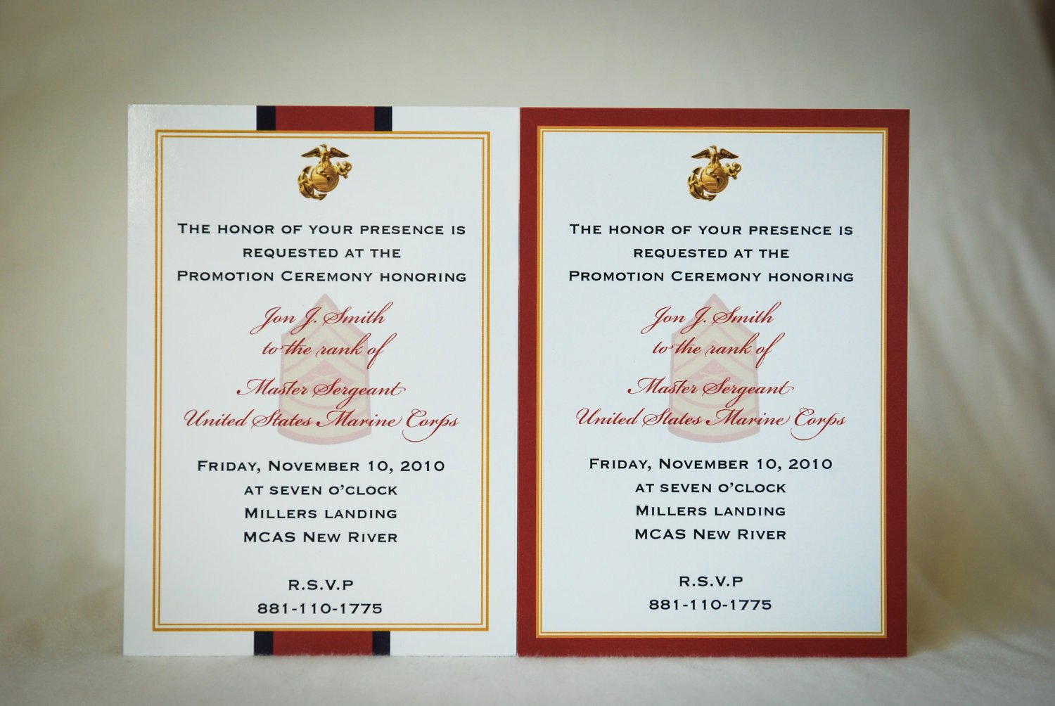 Promotion Announcement Templates Lovely Marine Enlisted Promotion Invitation Announcement