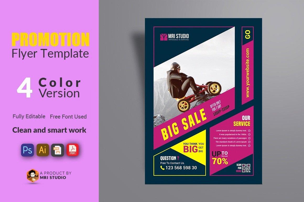 Promotion Announcement Templates Luxury Promotion Flyer Template Flyer Templates Creative Market