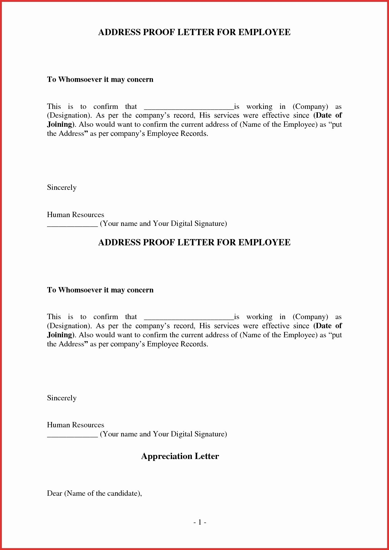 Proof No Income Letter Sample Best Of Address Proof Letter Sample In E From Employer Request