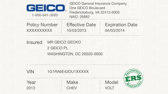 Proof Of Car Insurance Template Awesome 5 Best Of Proof Insurance Card Template Geico