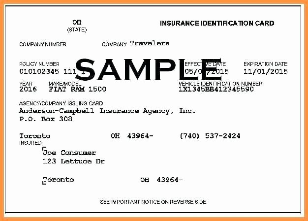 Proof Of Car Insurance Template Inspirational 15 Free Fake Auto Insurance Card Template