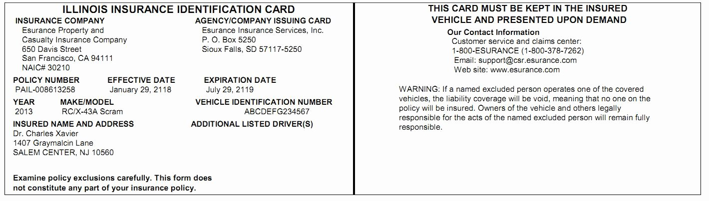 Proof Of Car Insurance Template Unique 7 Best Of Proof Insurance Print Cards Fake Car