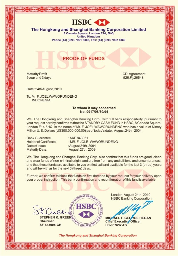Proof Of Funds Letter Inspirational Fake E Mails the Documents E Mail 4 to Bank