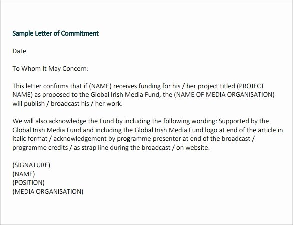 Proof Of Funds Letter Template Lovely Funding Letter Template Letter Of Re Mendation