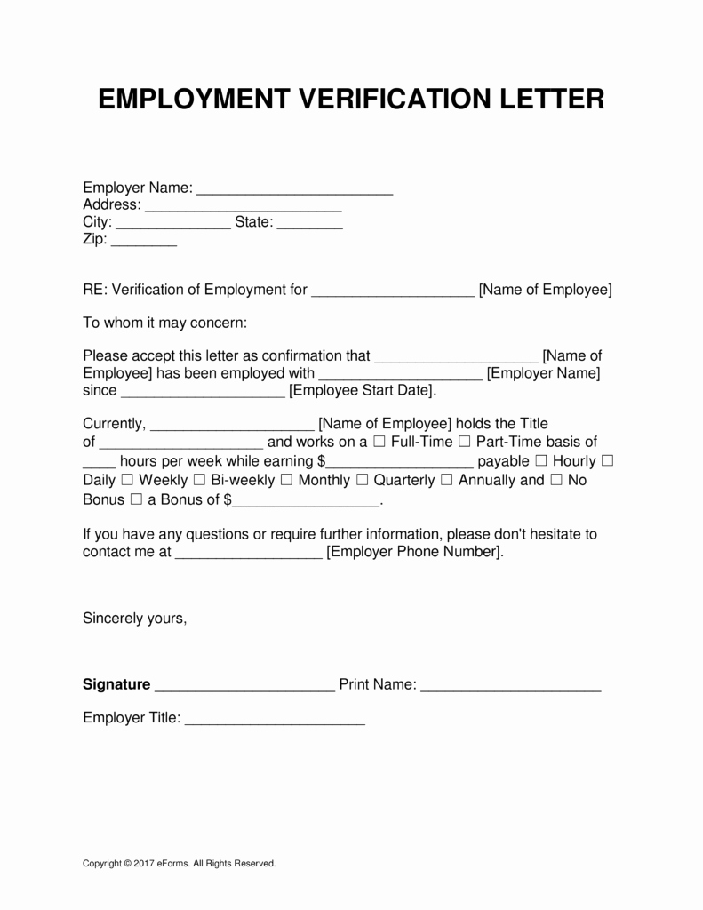 Proof Of No Income Letter Sample Luxury Free Employment In E Verification Letter Template