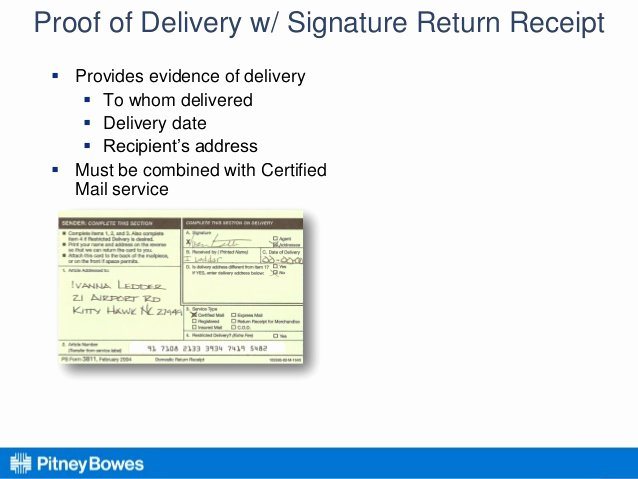 Proof Of Receipt Awesome Certified Return Receipts – Go Electronic to Cut Costs