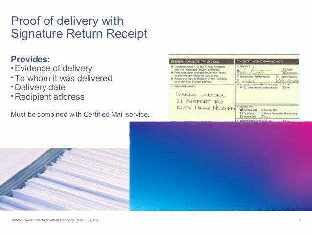 Proof Of Receipt Elegant Certified Return Receipt—go Electronic to Cut Costs