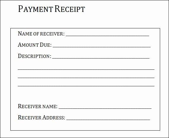 Proof Of Receipt Unique Proof Payment Receipt Template Invitation Template