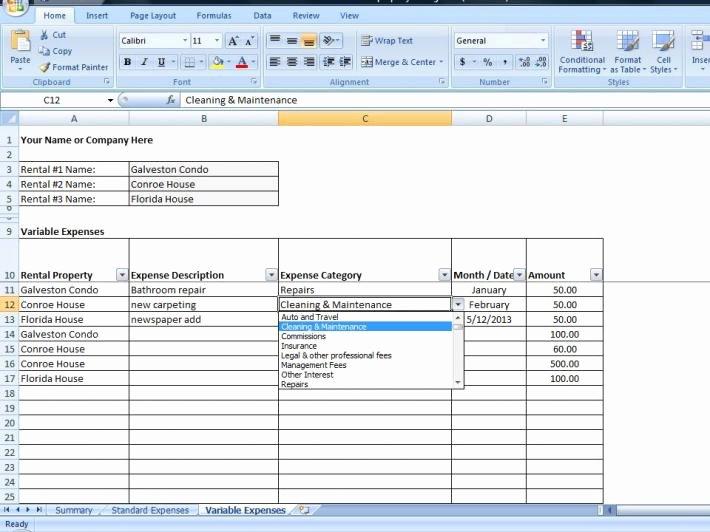 Property Management Maintenance Checklist Template Awesome Property Management Template