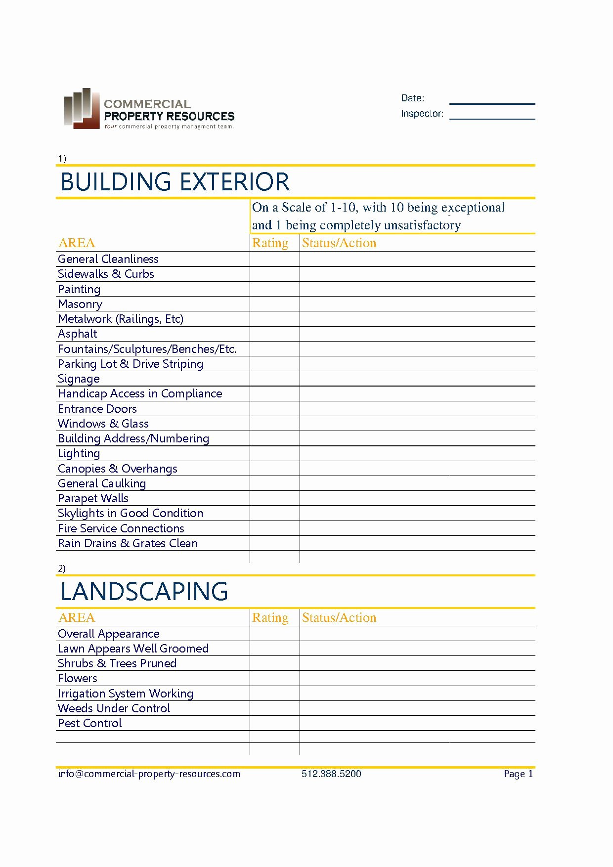 Property Management Maintenance Checklist Template Best Of Maintenance Checklists Mercial Property Resources