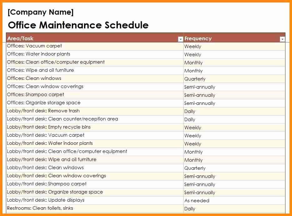Property Management Maintenance Checklist Template Inspirational Building Maintenance Checklists – Emmamcintyrephotography