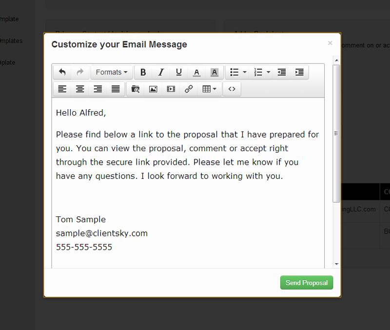 Proposal Email Sample Inspirational Sales Proposal software Line Sales Proposals