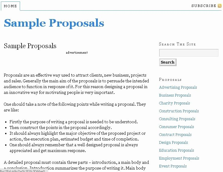 Proposal Email Sample New Resource to Write Proposals with Free Sample Proposal