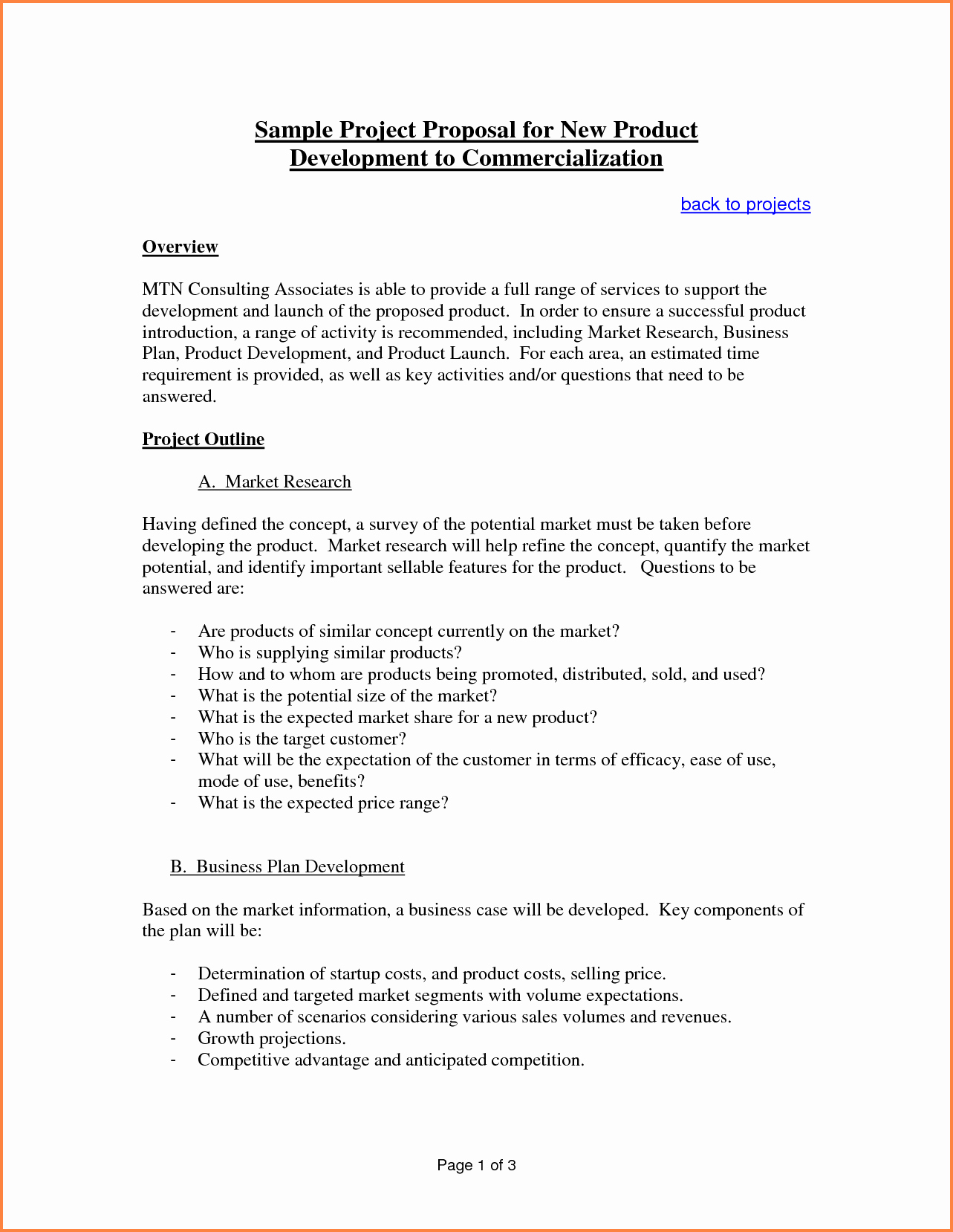 Proposal Outline Template Best Of 6 Sample Proposal Template for Project
