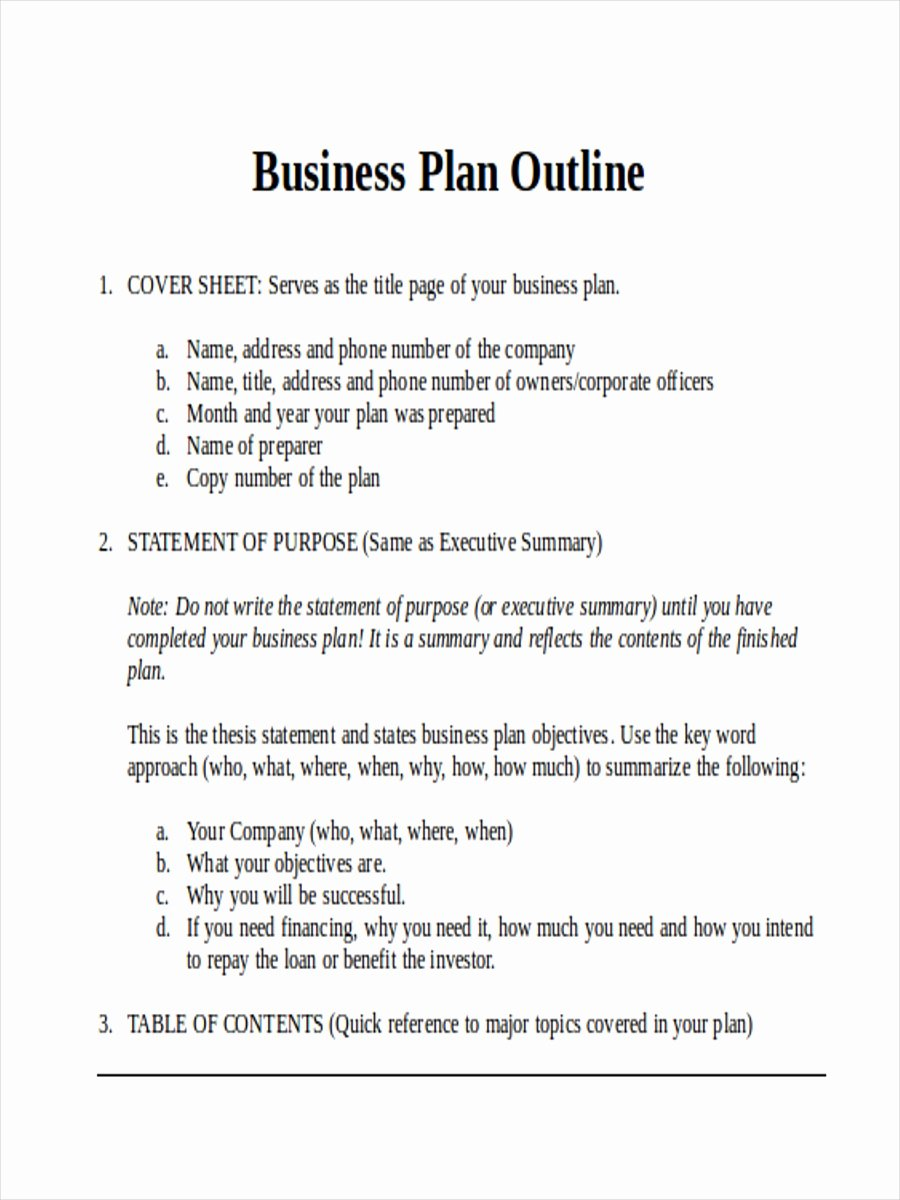 Proposal Outline Template Fresh 36 Outline Examples & Samples In Word Pages