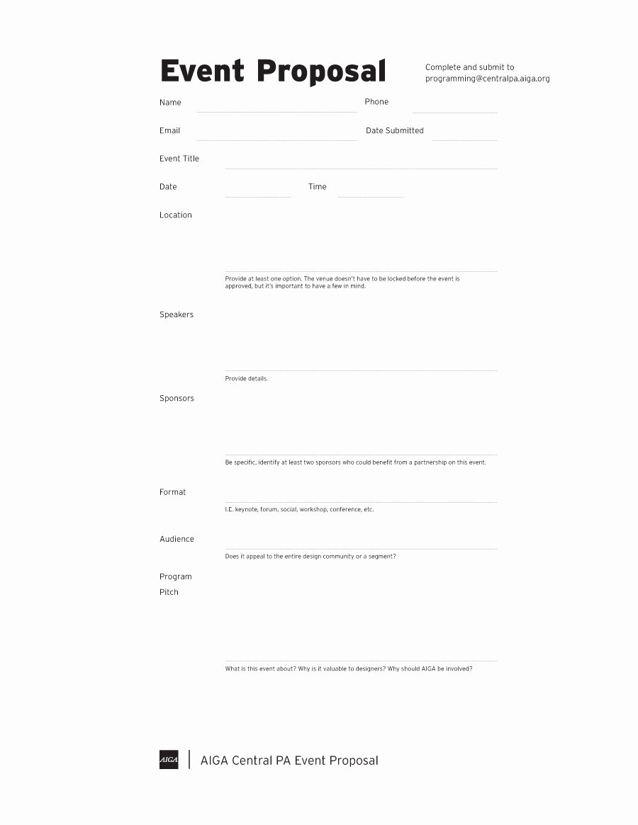 Proposal Outline Template Fresh 38 Best event Proposal Templates & Free Examples
