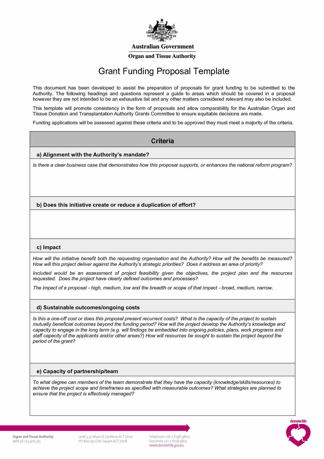 Proposal Outline Template Inspirational Grant Proposal Template