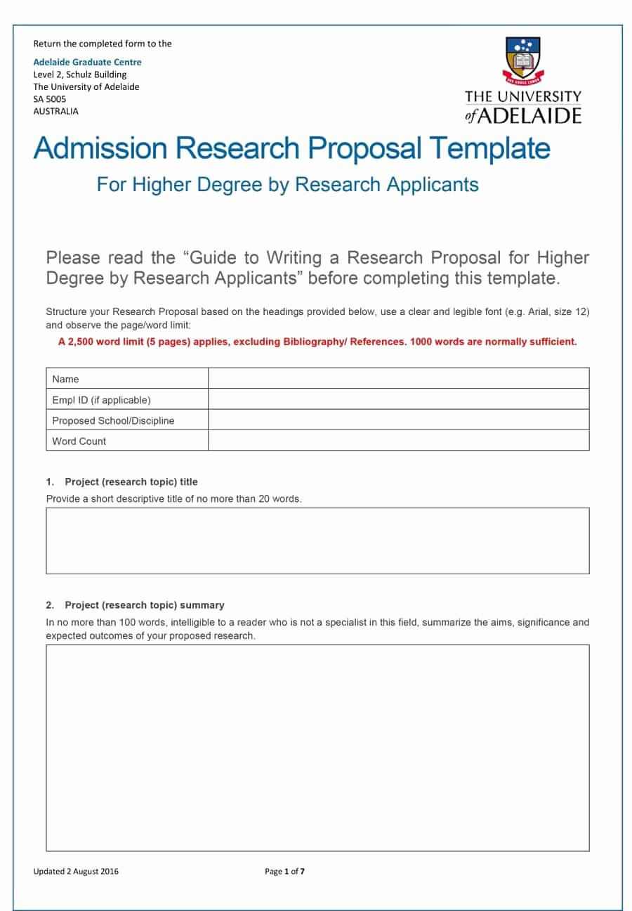 Proposal Outline Template Lovely Choose From 40 Research Proposal Templates & Examples 100
