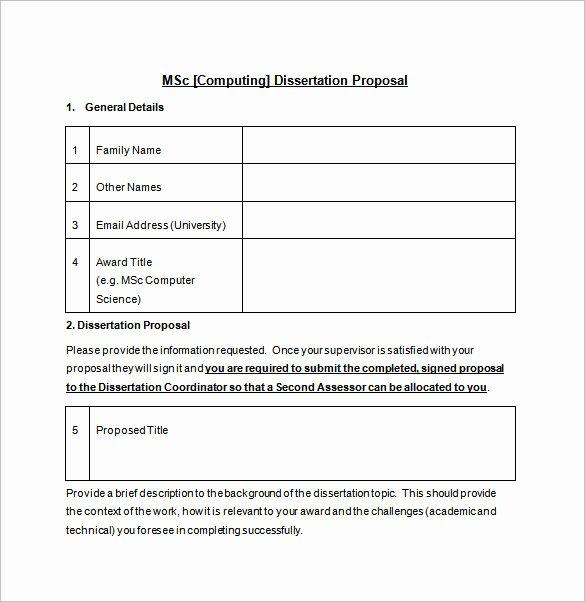 Prospectus Template Word Elegant Dissertation Prospectus Outline