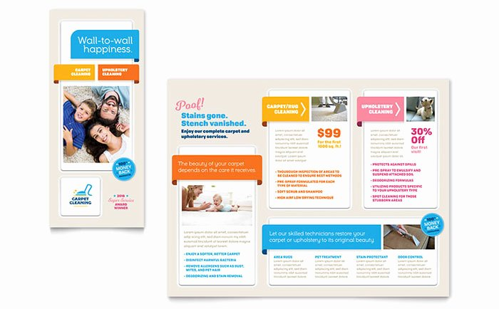 Prospectus Template Word Inspirational Carpet Cleaning Brochure Template Design