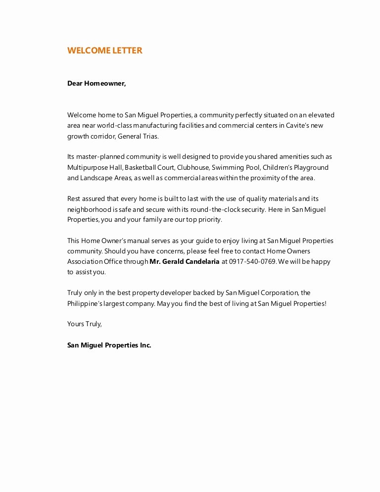 Proxy Letter Template Luxury Home Owners Manual