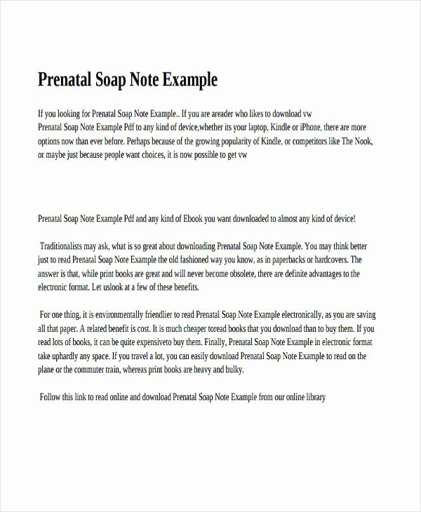 Psychiatric soap Note Example Awesome 14 soap Note Examples Pdf